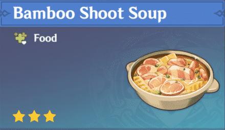 sopa de brotes de bambú
