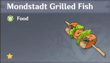 pescado a la parrilla de mondstadt