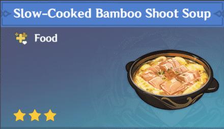 sopa de brotes de bambú a fuego lento